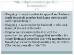 what filipino tourists spend on continuation