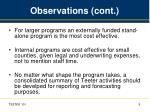 observations cont