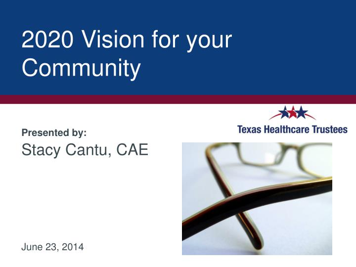 2020 vision for your community n.