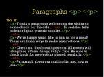 paragraphs p p