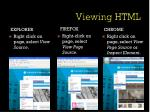 viewing html
