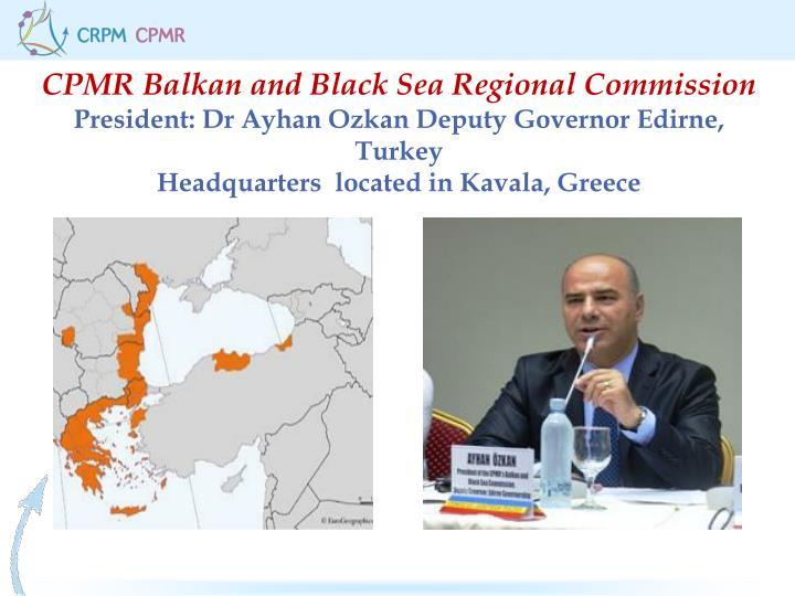 CPMR Balkan and Black Sea Regional Commission