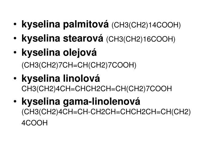 kyselina palmitová