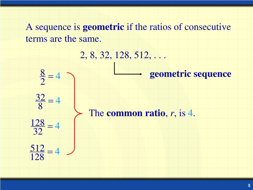 PPT - Geometric Sequences and Series PowerPoint Presentation