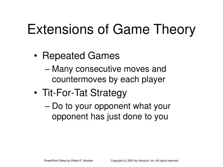 Extensions of Game Theory