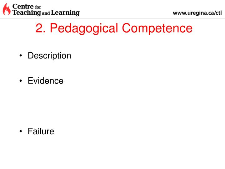 2. Pedagogical Competence