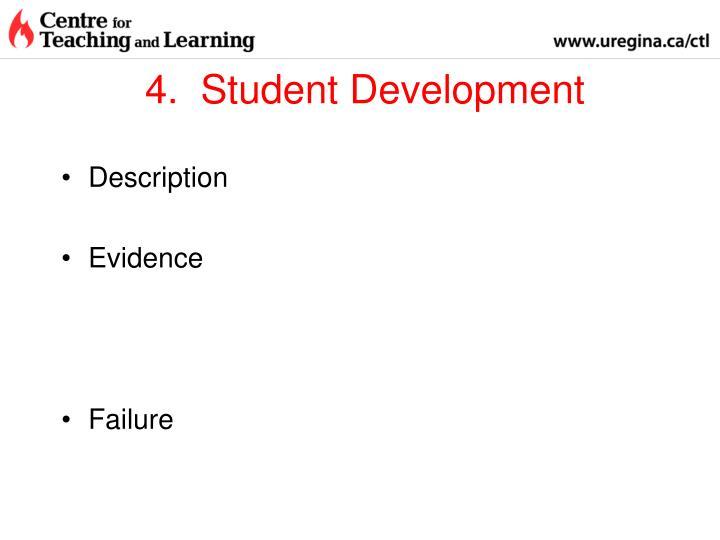 4.  Student Development