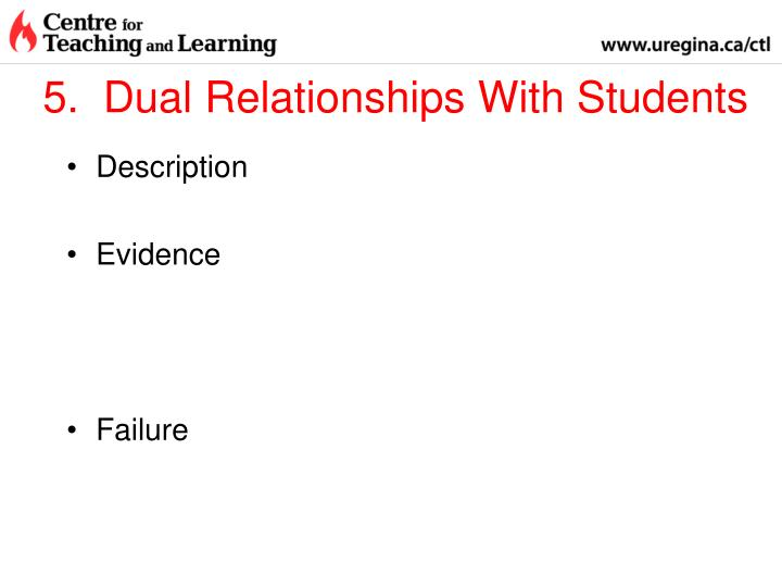 5.  Dual Relationships With Students