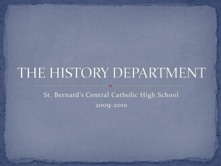 the history department n.