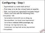 configuring step i