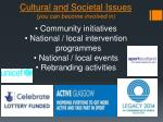 cultural and societal issues you can become involved in