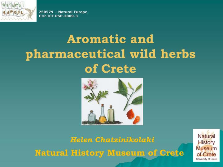 aromatic and pharmaceutical wild herbs of crete n.