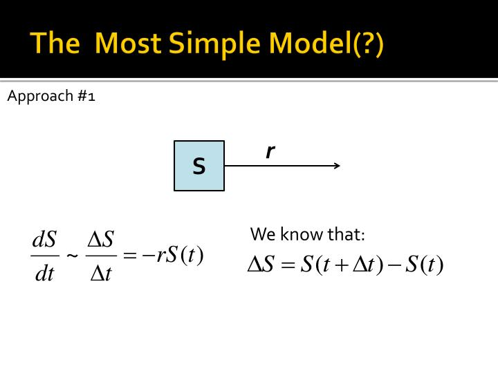 The  Most Simple Model(?)
