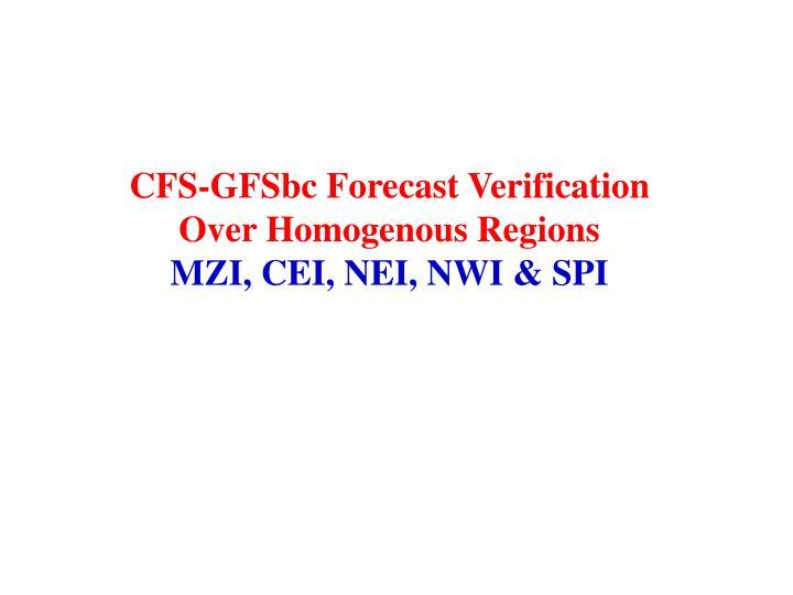CFS-GFSbc Forecast Verification