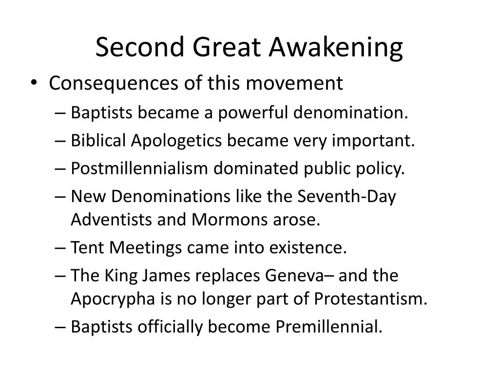 PPT - Second Great Awakening PowerPoint Presentation - ID