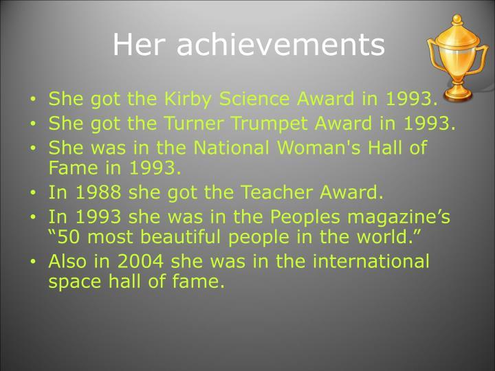 Her achievements