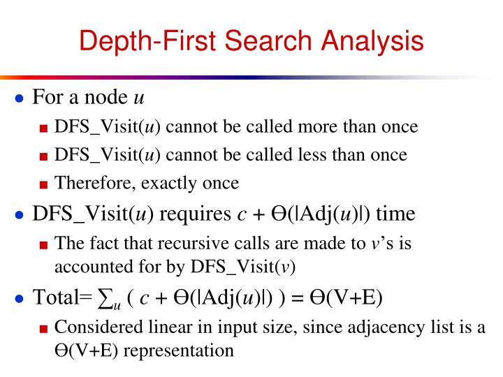 Depth-First Search Analysis