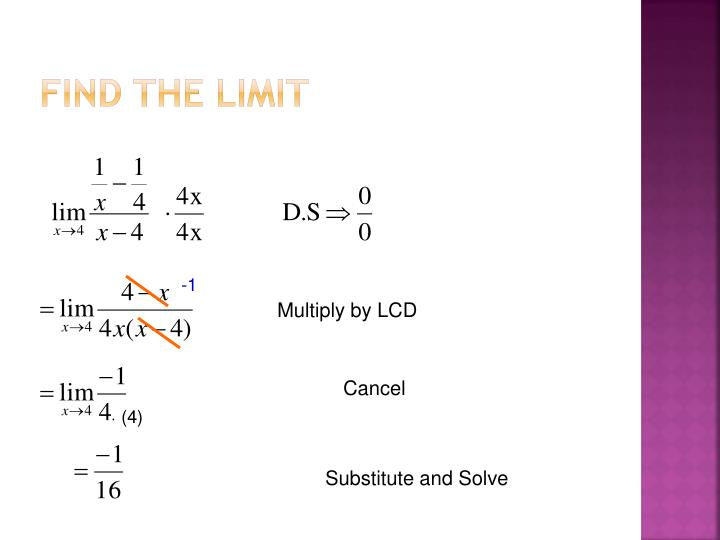 Find the limit