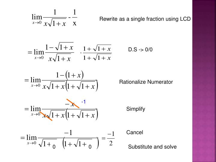 Rewrite as a single fraction using LCD