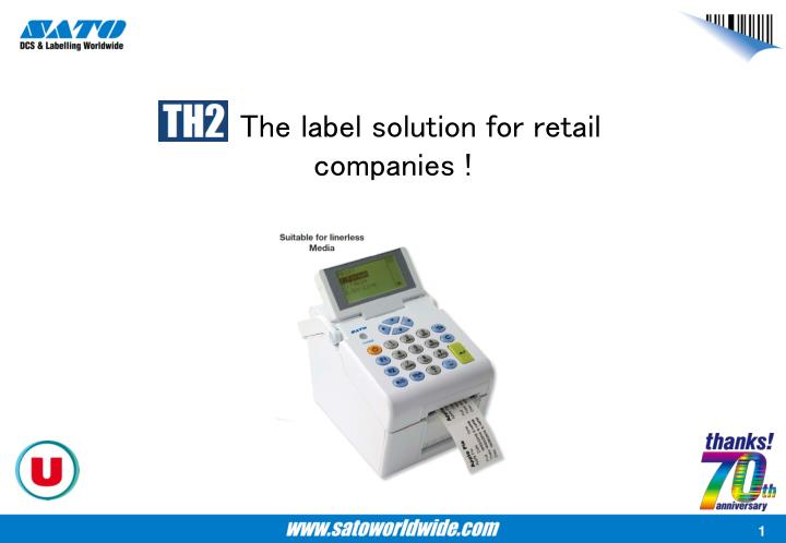the label solution for retail companies n.