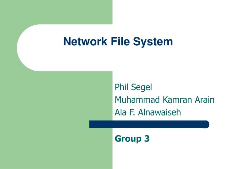 network file system n.