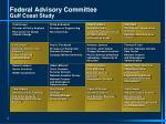 federal advisory committee gulf coast study