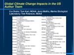 global climate change impacts in the us author team
