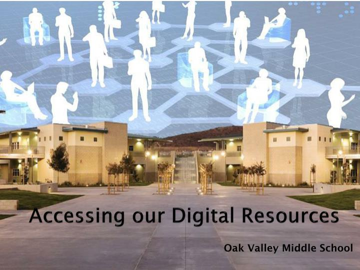 accessing our digital resources n.