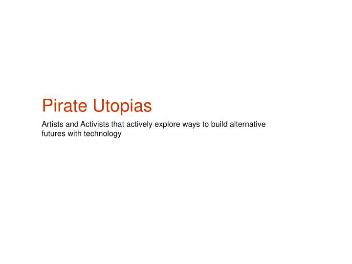 pirate utopias n.
