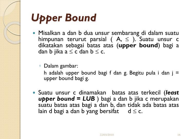Upper Bound