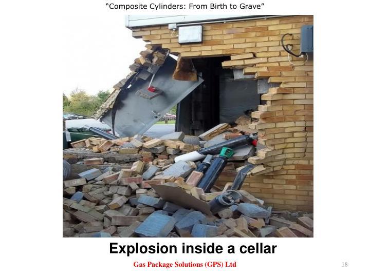Explosion inside a cellar