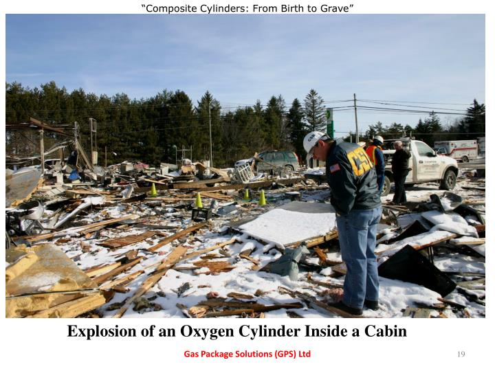Explosion of an Oxygen Cylinder Inside a Cabin