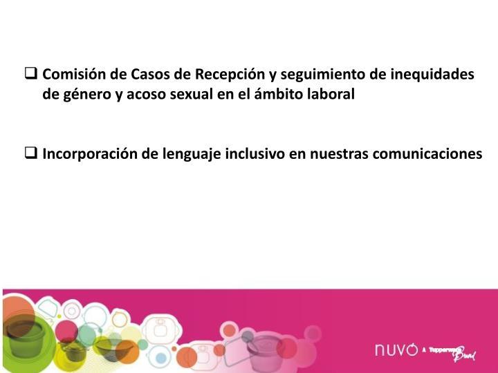 Comisión de Casos de Recepción y seguimiento de inequidades de género y acoso sexual en el ámbito laboral