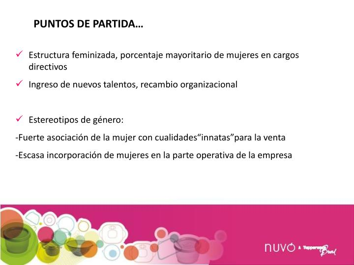 PUNTOS DE PARTIDA…
