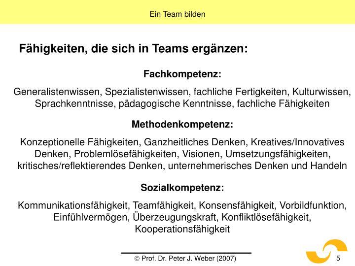 Ein Team bilden