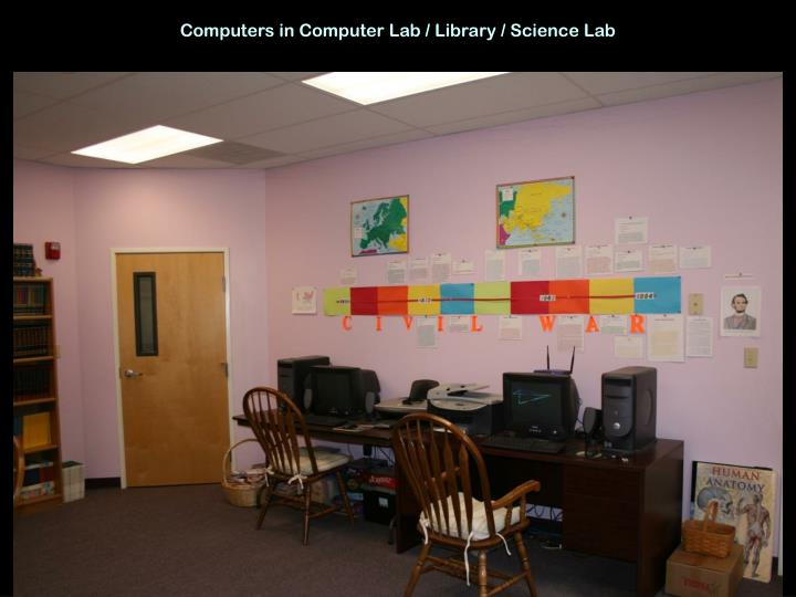 Computers in Computer Lab / Library / Science Lab