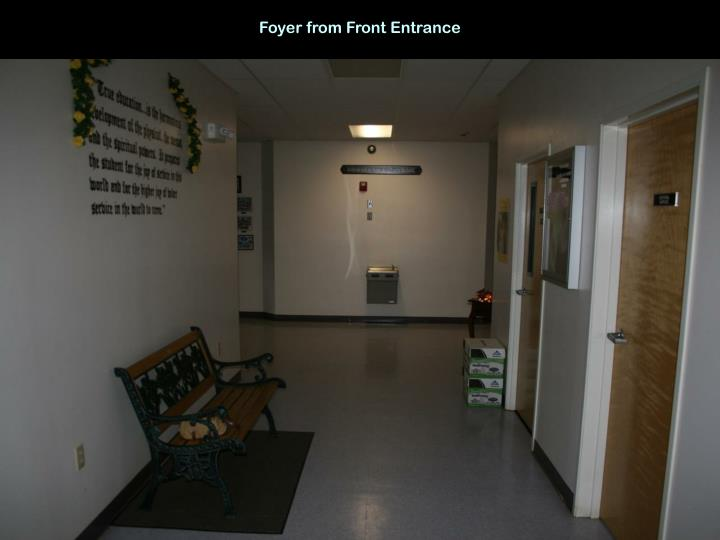 Foyer from Front Entrance