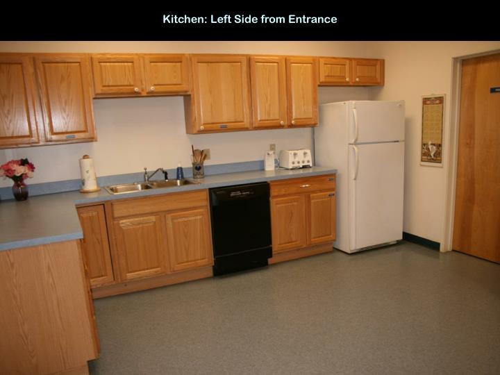 Kitchen: Left Side from Entrance