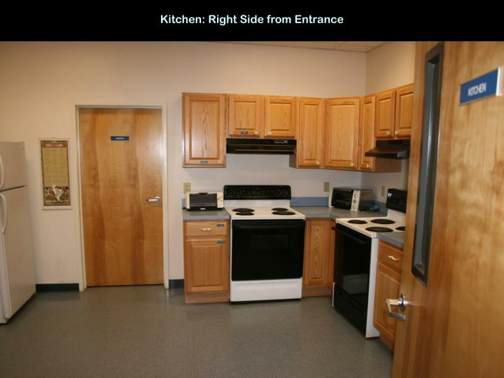 Kitchen: Right Side from Entrance