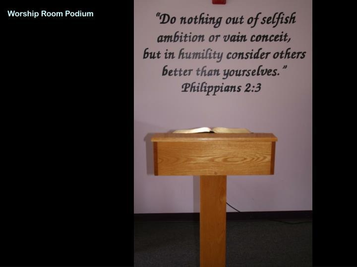 Worship Room Podium
