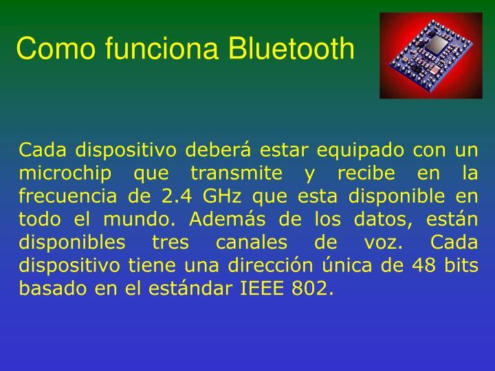 Como funciona Bluetooth