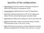 specifics of the collaboration