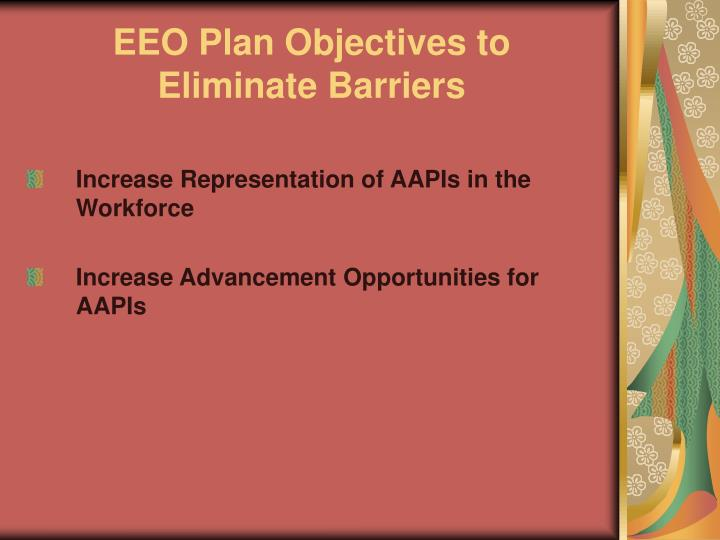 EEO Plan Objectives to