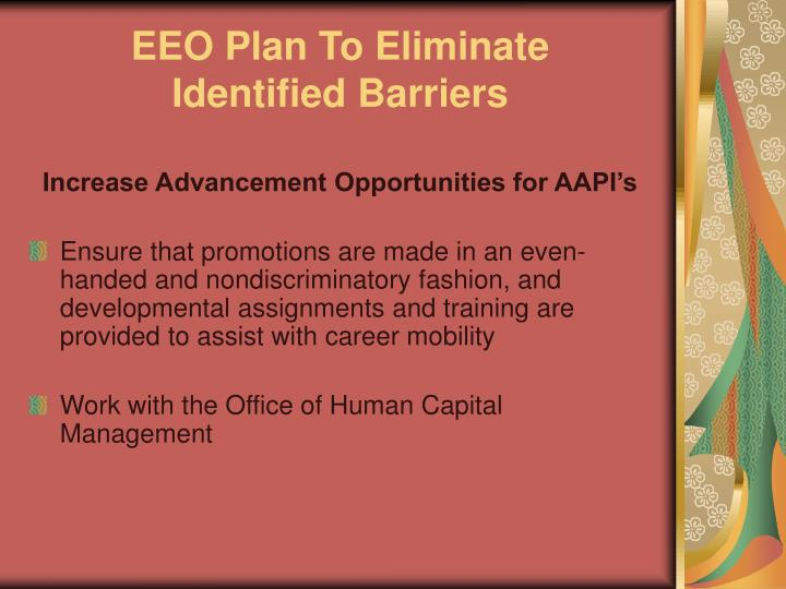 EEO Plan To Eliminate