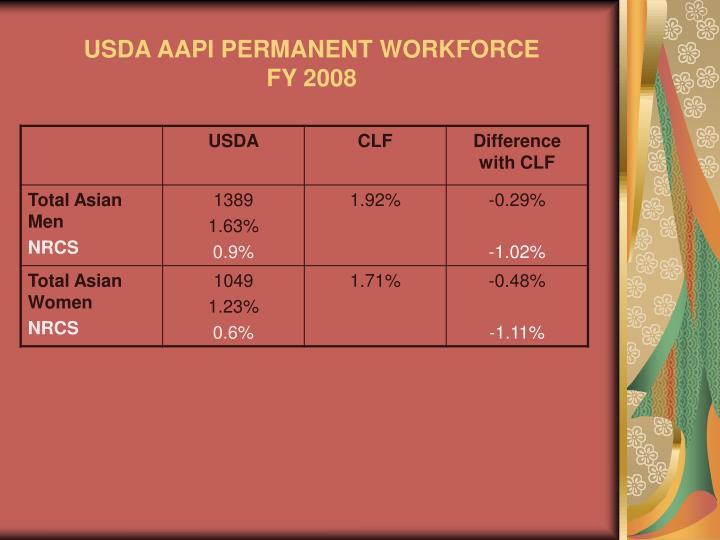 Usda aapi permanent workforce fy 2008