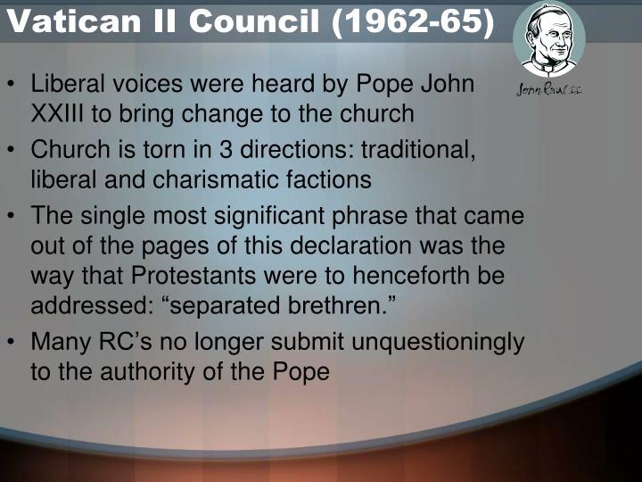 Vatican II Council (1962-65)