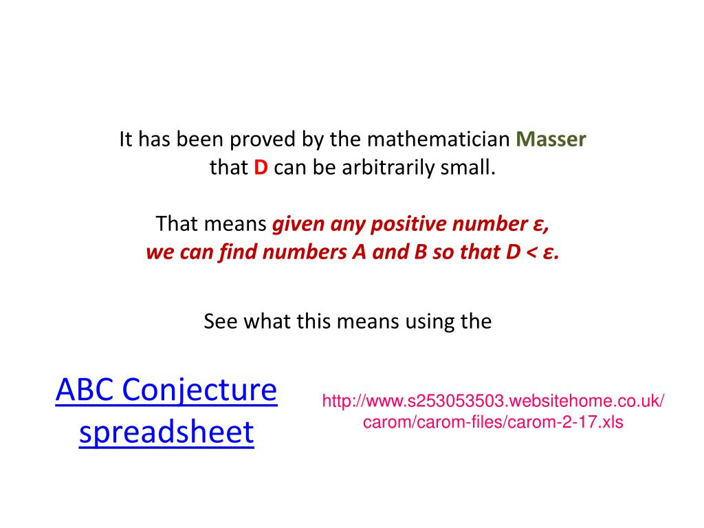 PPT - Activity 2-14: The ABC Conjecture PowerPoint
