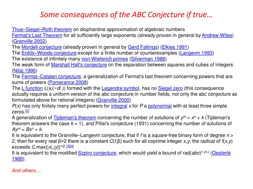 PPT - Activity 2-14: The ABC Conjecture PowerPoint Presentation - ID