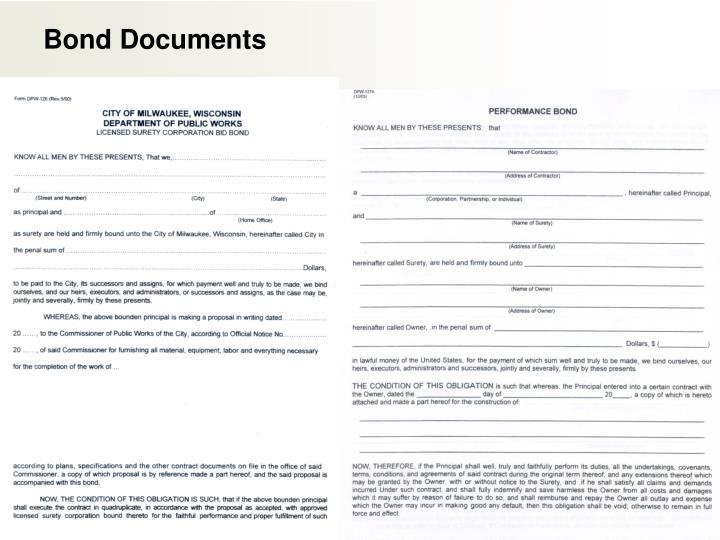 Bond Documents