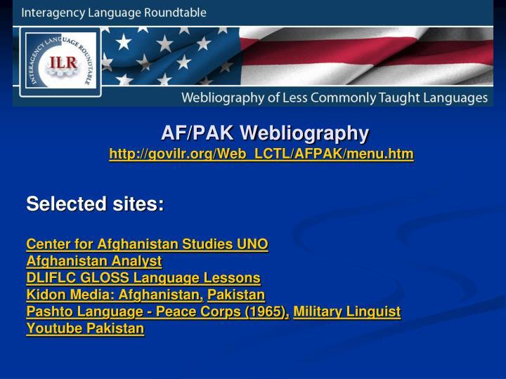 AF/PAK Webliography